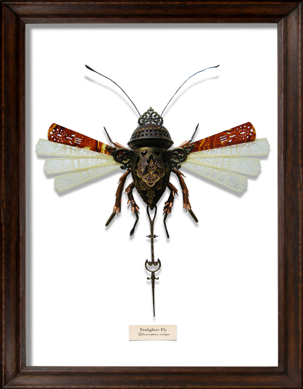 These very fabulous Litter Bugs are made entirely of found objects by artist  Mark Oliver . Check out his site for tons more. Hat tip!!
