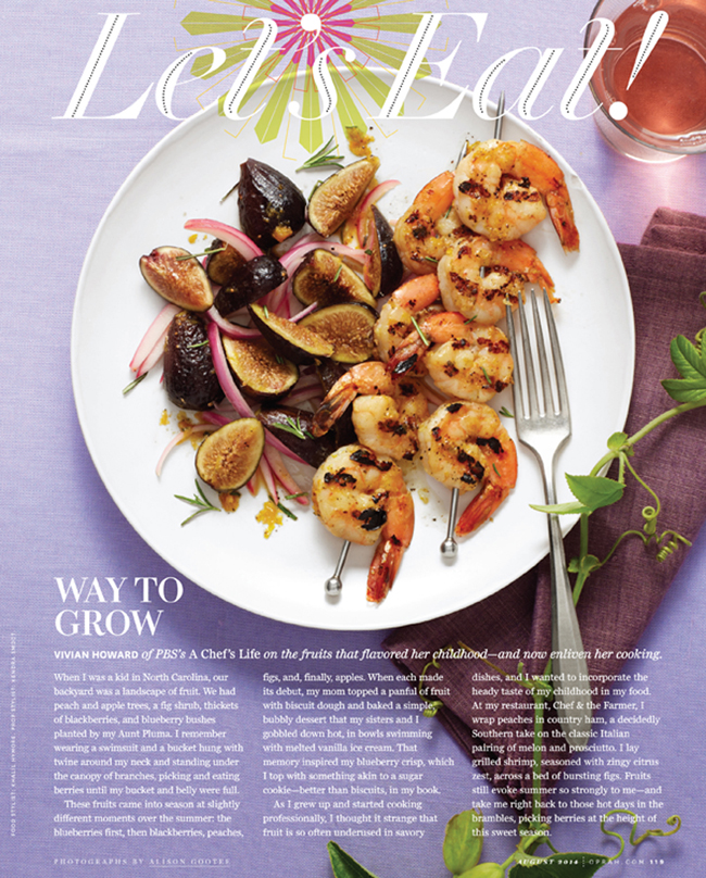 Food section opener, August 2014