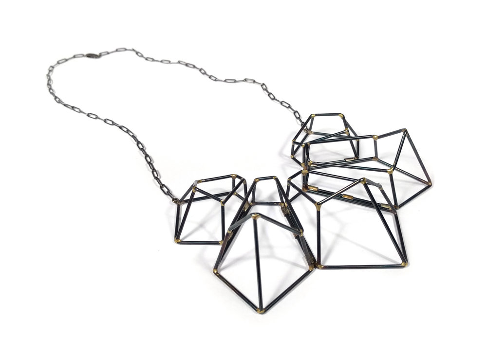 Crystalline Construction Cluster Necklace