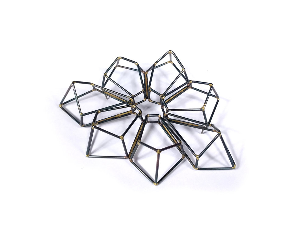 Crystalline Construction Brooch
