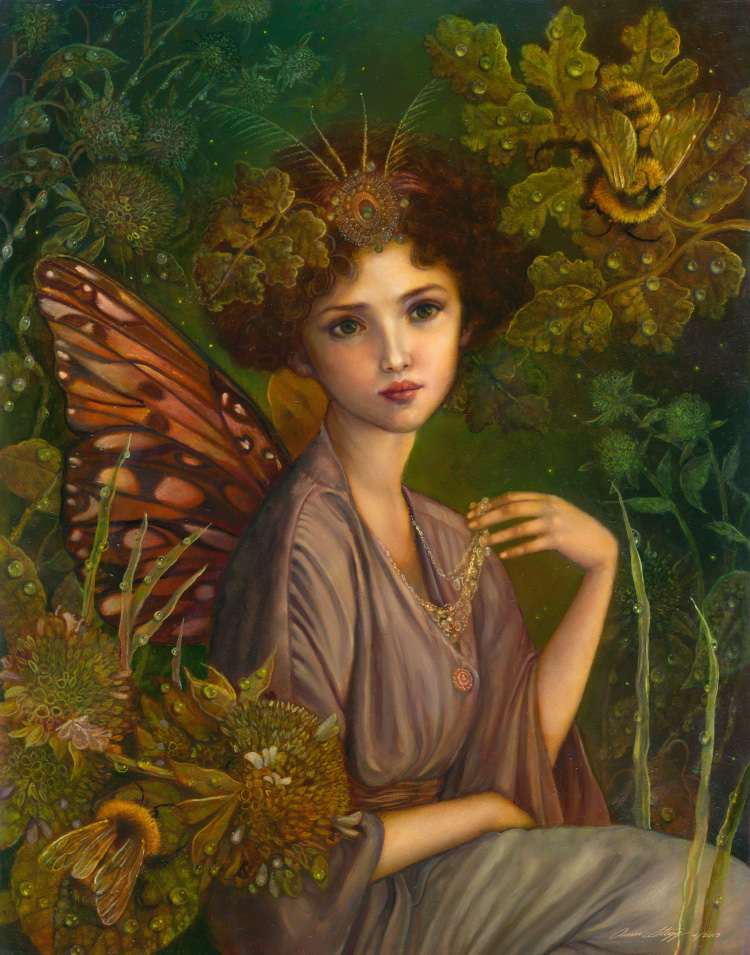 """The Faerie Queen"" 11x14 oil on panel April 2013"