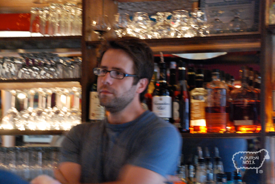 Kevin doing his thing behind the bar- #1 rule in bartender is act like you are care!
