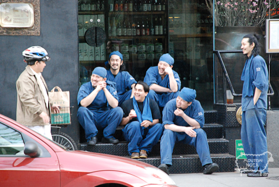 This was a cool pic of some guys on a smoke break at a place near by