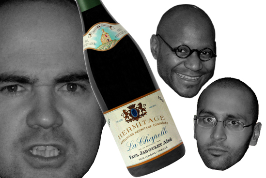 Raj's last night at CRU... We were blinded on the 61 La Chapelle-the fruit on this wine was mind blowing-so youthfulThank You Mr. Bohr