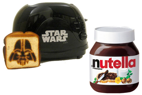 Nutella is simply the best and with this new Dark Vader toaster I'm all smiles!