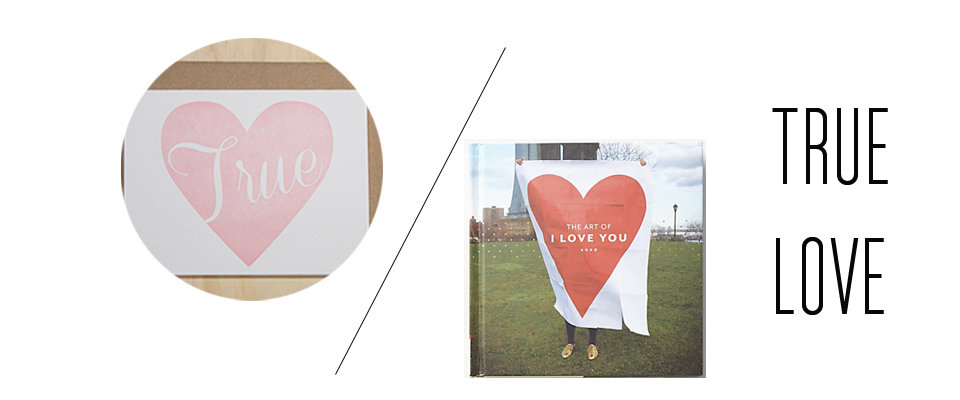 How about a  book  and  card  to tell your one true love how you feel?