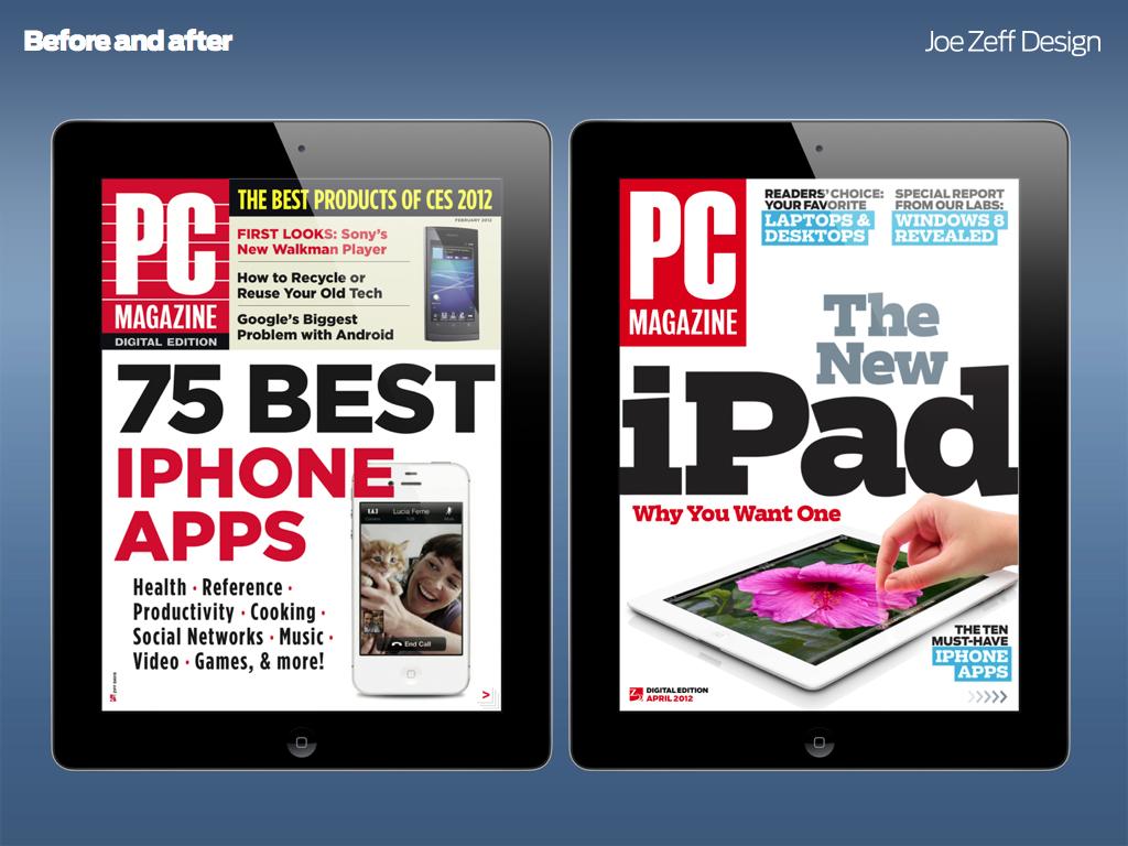 PC Magazine for iPad — Joe Zeff Design