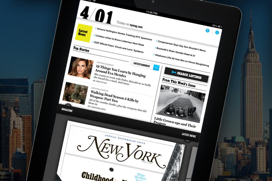Updated: New York Magazine's New iPad App — Joe Zeff Design
