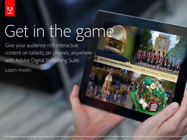 Watch a video about our Notre Dame Gameday app.