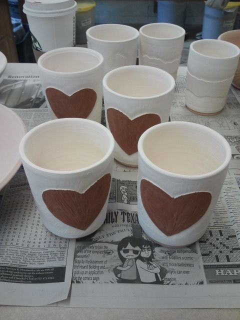 porcelain bisque fire heart cups. sibbotery