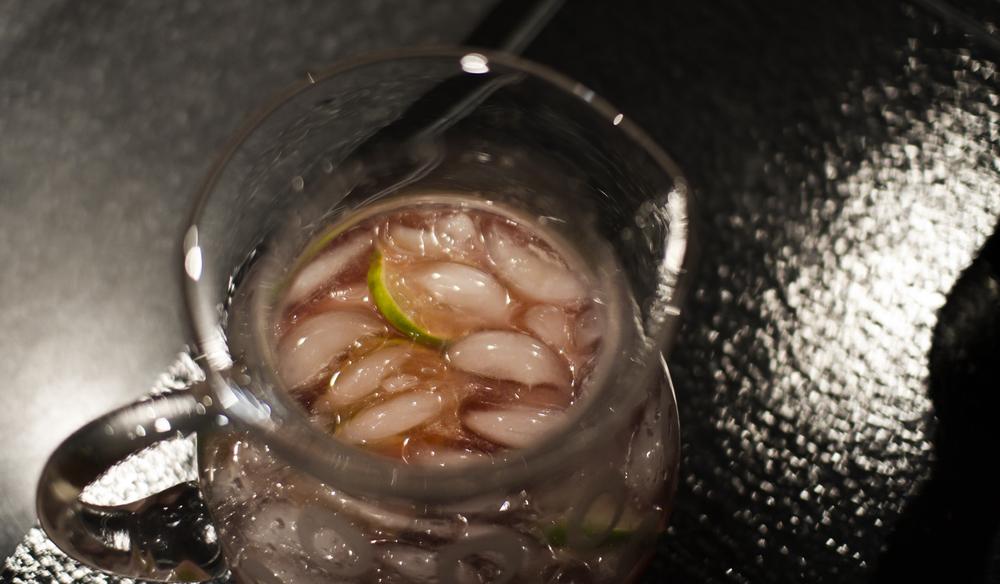 Ice\Crushed & Sliced Lime\Blood Orange Spritz Soda\Gin