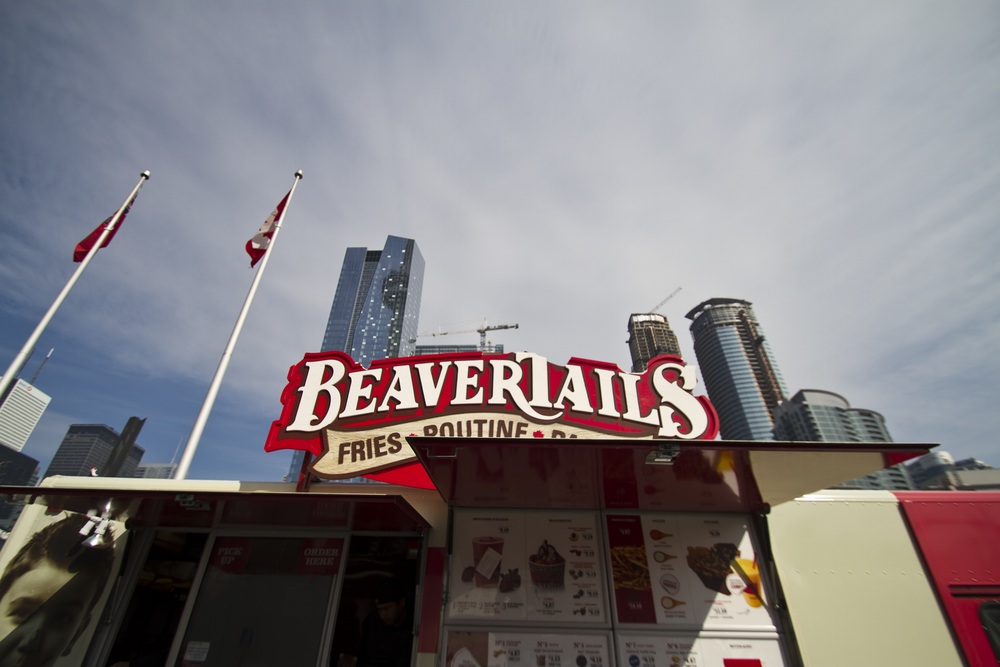 Beaver Tails Food truck outside the CN Tower 'I'll take three please!