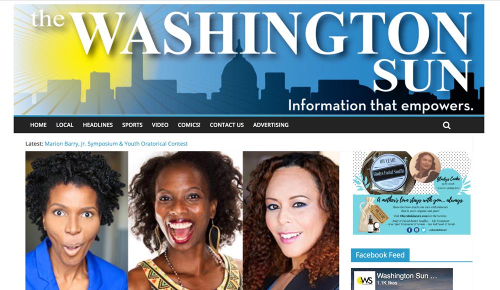 Washington Sun - The Sun wrote about my web series!