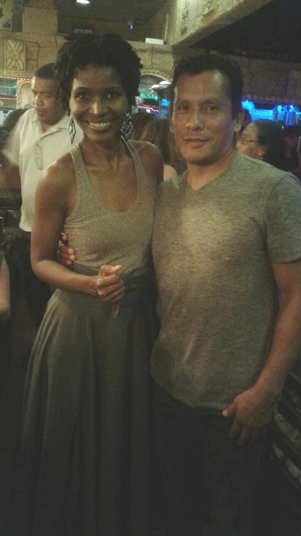 Here I'm pictured my FAVORITE DANCER, Raul, at our favorite dancing spot. We've known each other for more than 10 years!