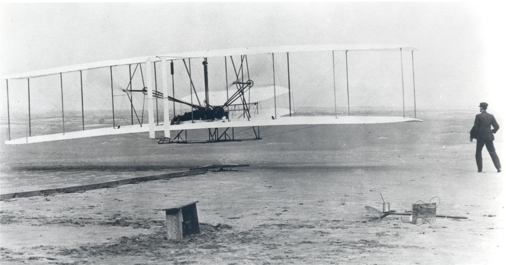 Wright Brothers' First Heavier Than Air Flight, December 17, 1903. Source: NASA