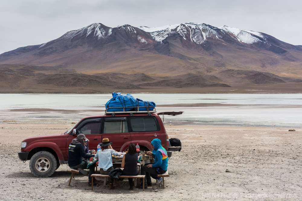 A Scenic Lunch, Lake Chiar Kota, Bolivian Highlands