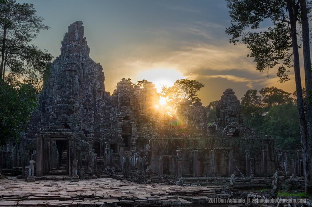 Sunset Over Bayon, Angkor, Cambodia, Ben Ashmole