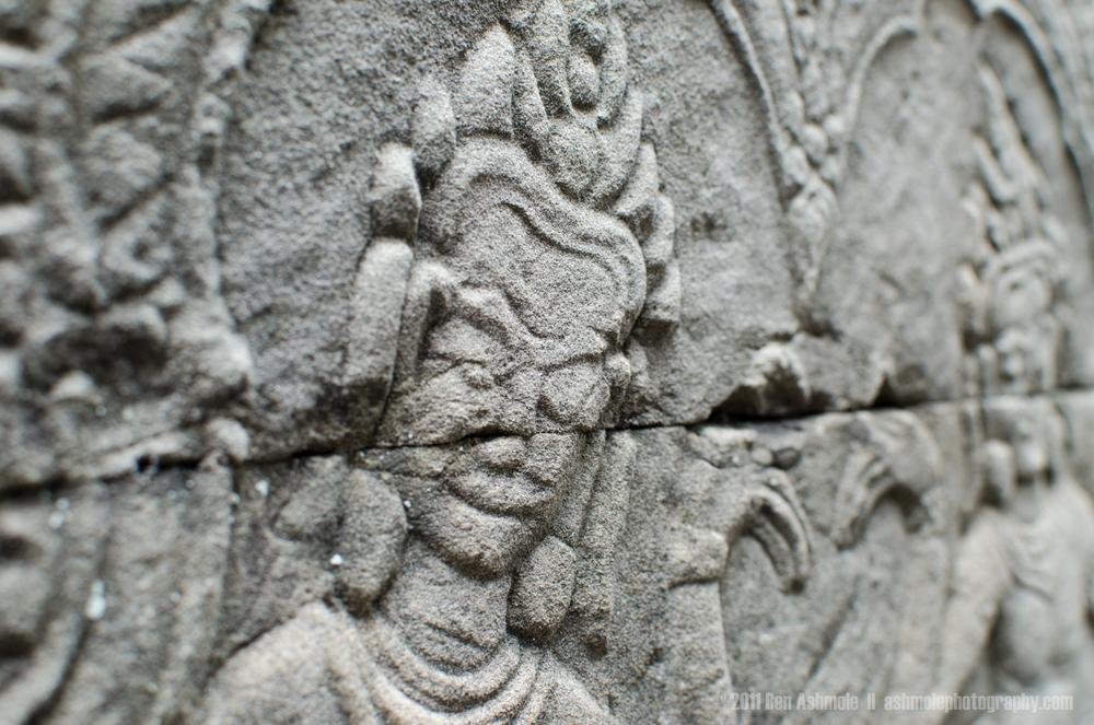Khmer Wall Detail, Angkor, Cambodia, Ben Ashmole
