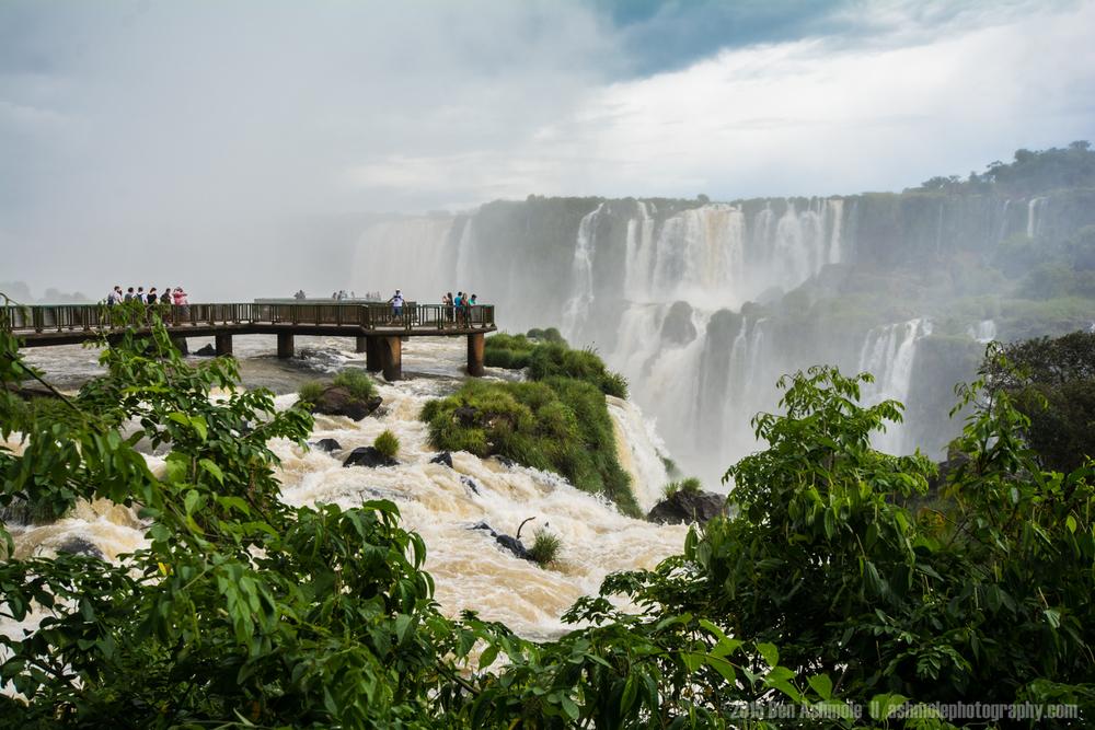 Walkway Above Iguazu Falls, Brazil