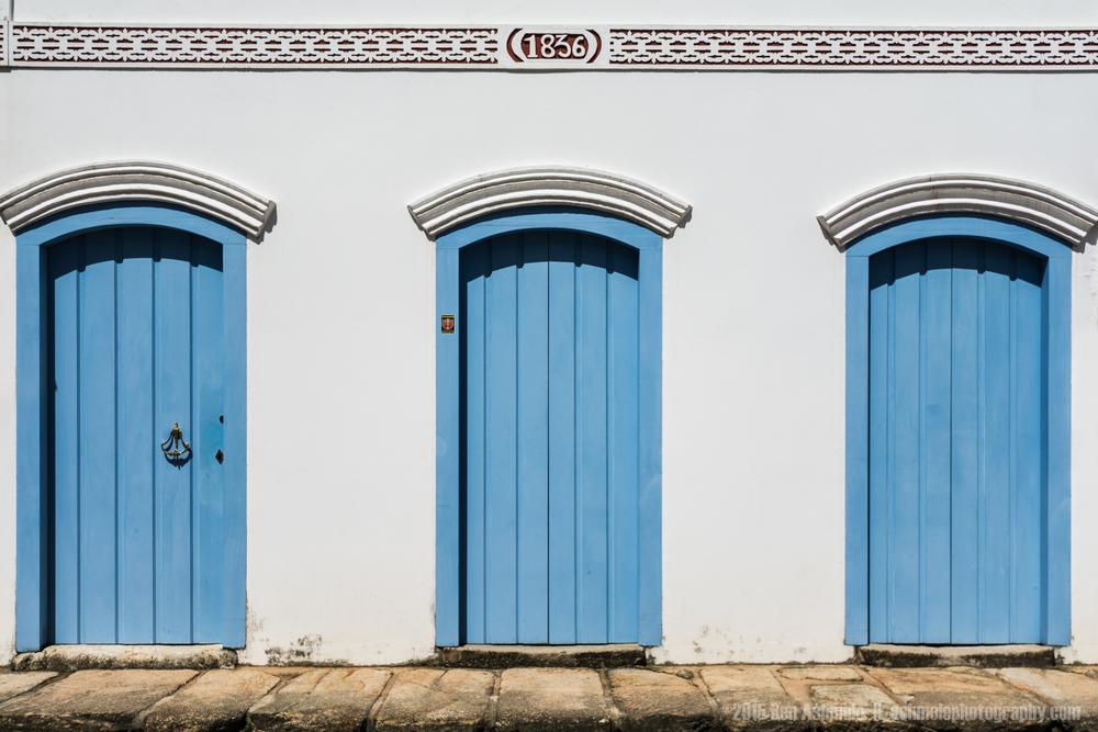 3 Blue Doors, Paraty, Brazil