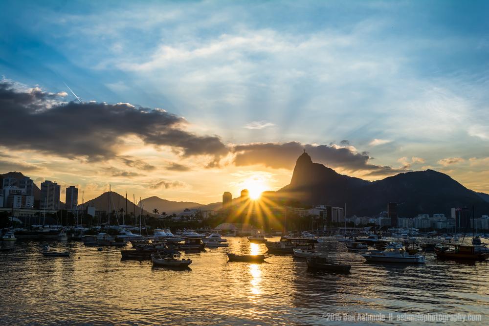 Sunset From Urca, Rio De Janeiro, Brazil