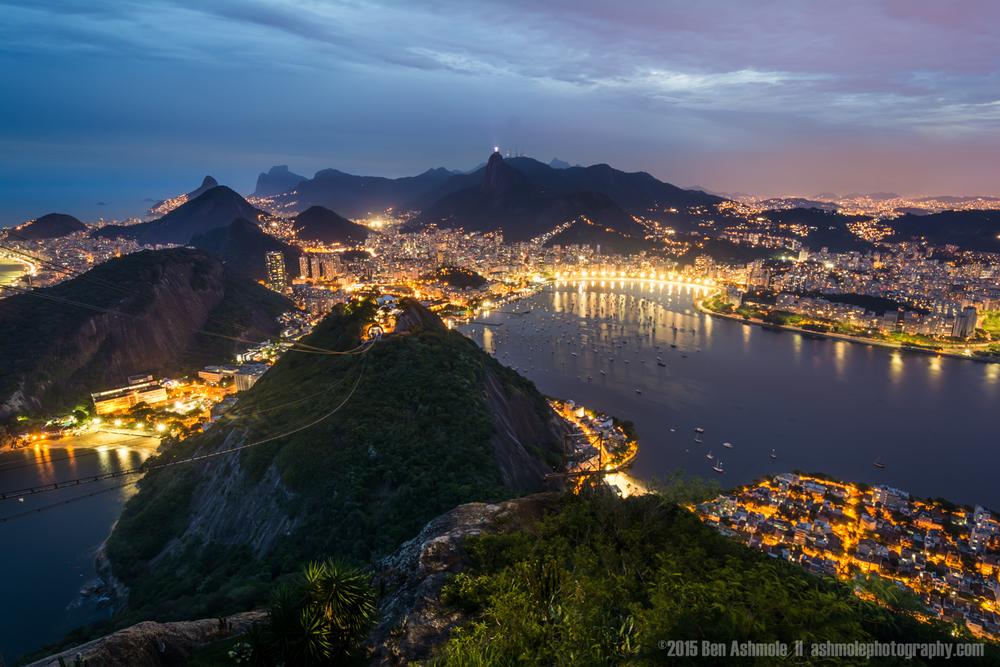 Dusk From Sugar Loaf Mountain, Rio De Janeiro, Brazil