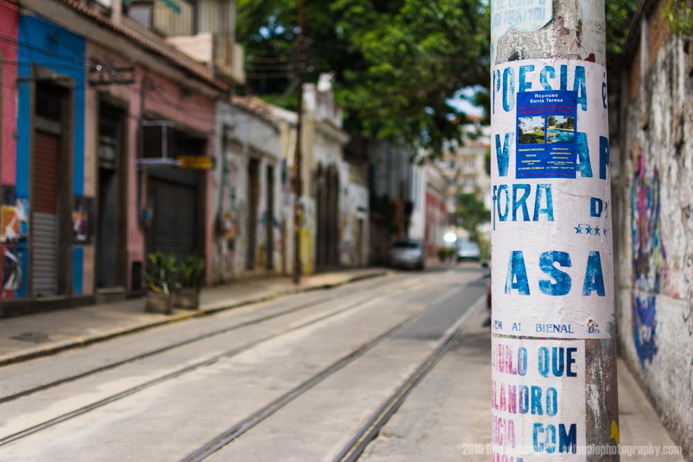 Santa Teresa Street, Rio De Janeiro, Brazil