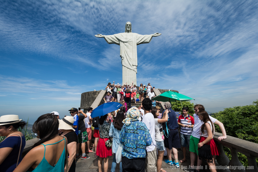 Christ The Redeemer Front 3, Rio De Janeiro, Brazil
