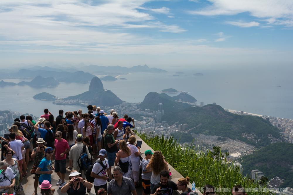 Tourists View Across Rio de Janeiro, Brazi
