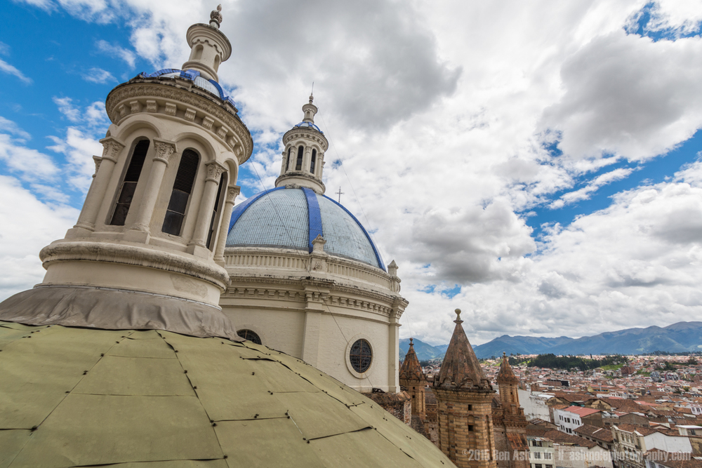 Towers Of Catedral De La Inmaculada Conception, Cuenca, Ecuador