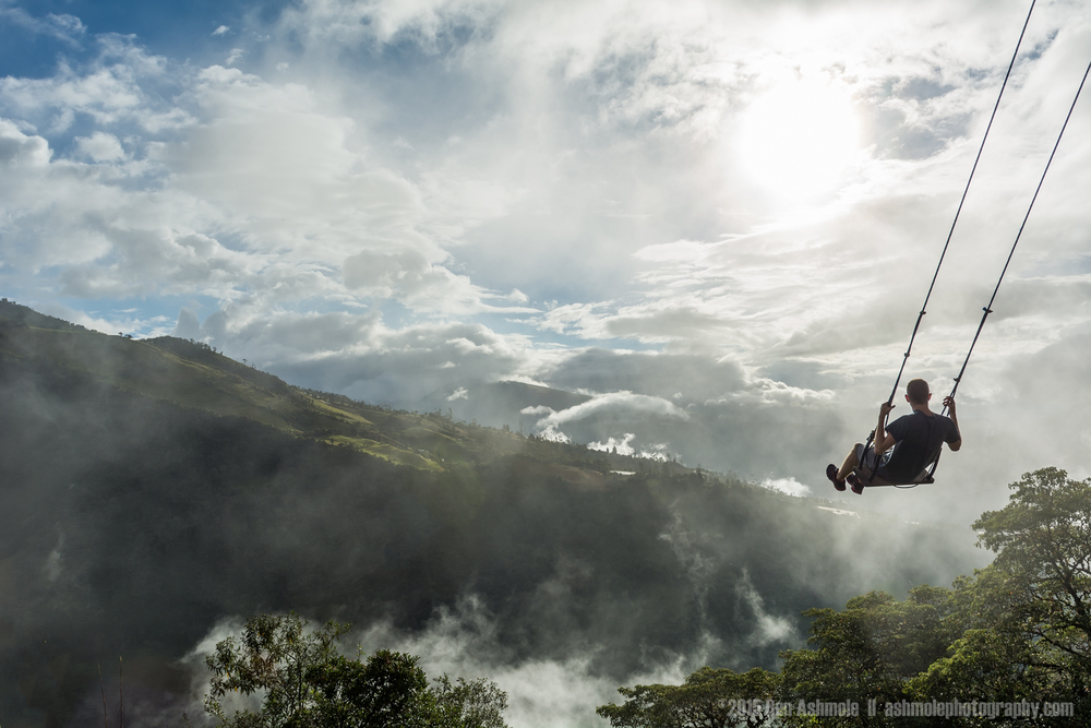 Swinging Over The Jungle, Baños, Ecuador