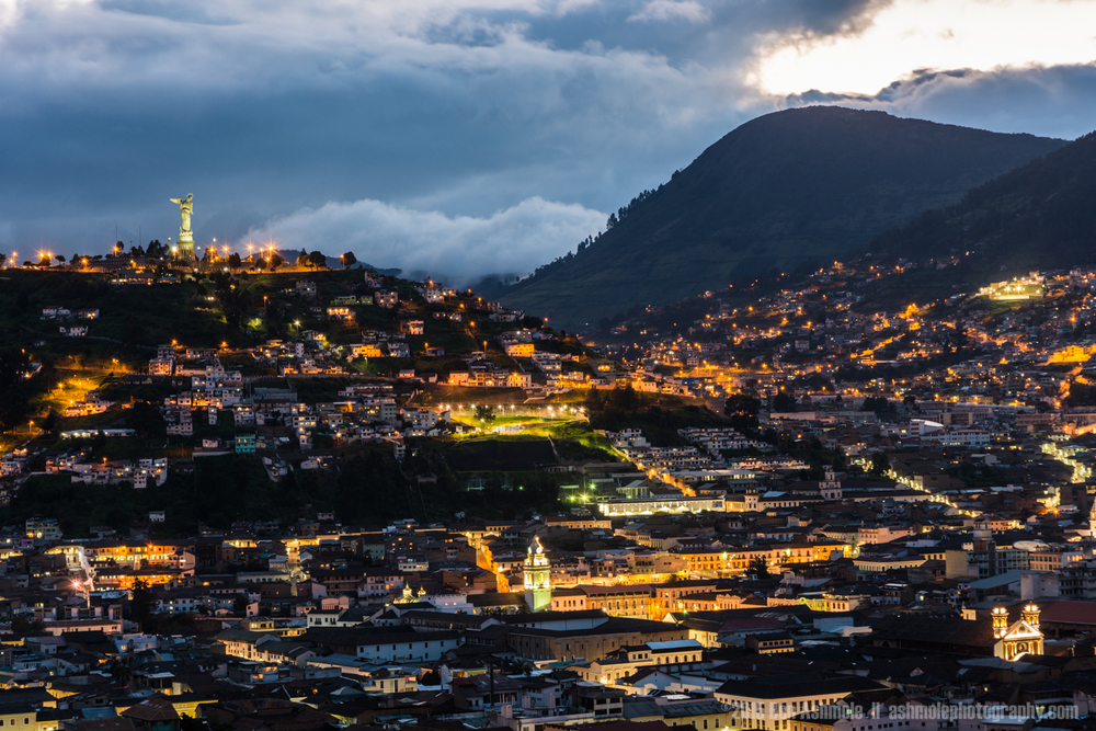 Quito City Night, Ecuador