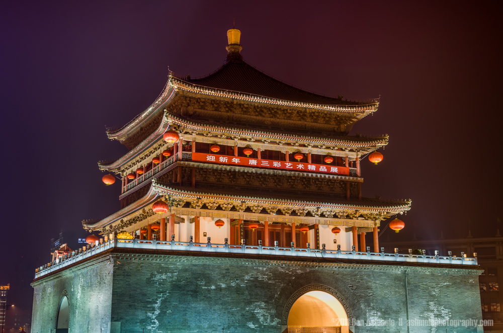 The Bell Tower, Xi'an, Shaanxi Province, China, Ben Ashmole