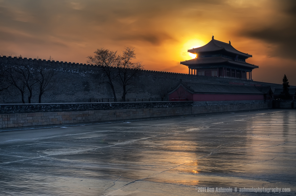 Forbidden City Sunset, Beijing, China, Ben Ashmole