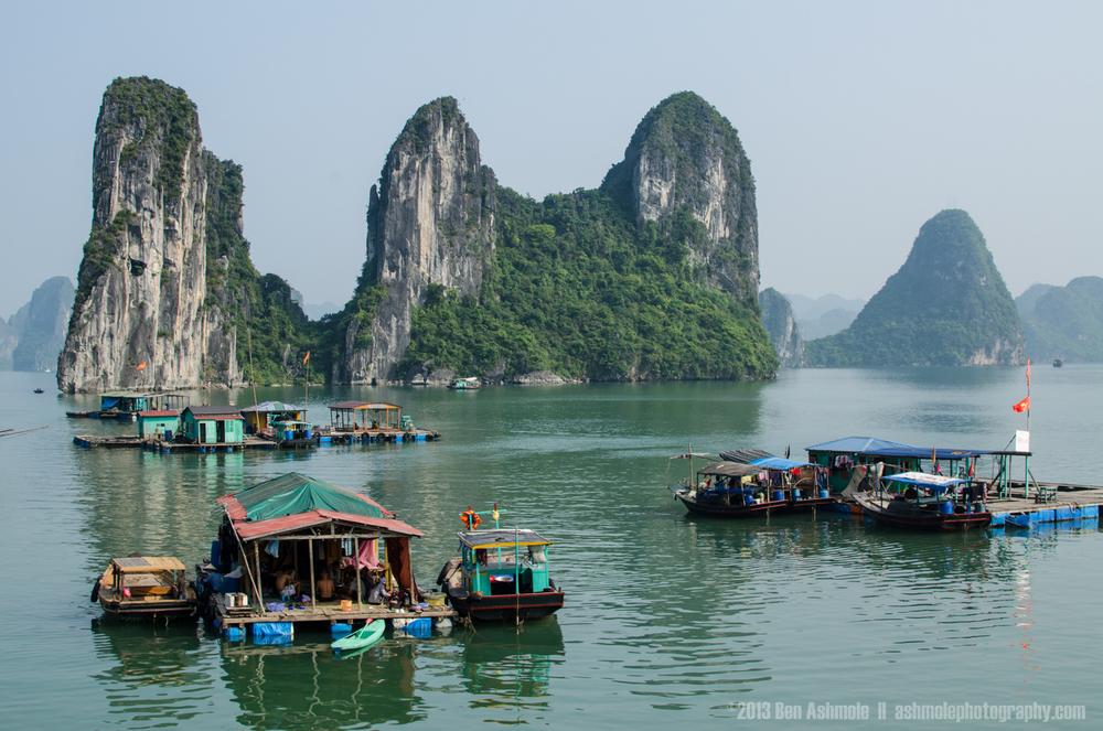 Floating Vietnamese Village, Ha Long Bay, Vietnam
