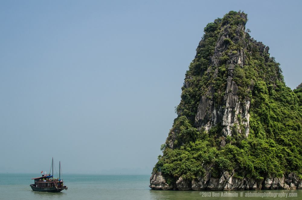 Sailing Around The Outcrop, Ha Long Bay, Vietnam