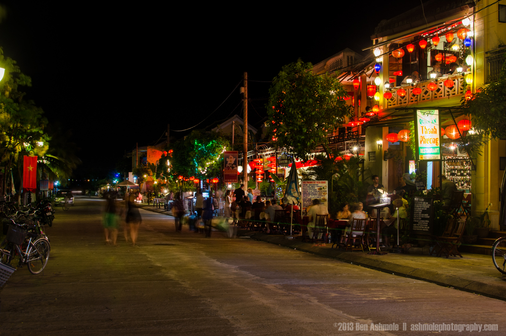 Colonial Street At Night, Hoi An, Vietnam