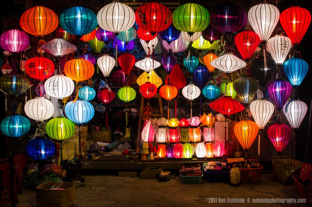 Lanterns Lit, Hoi An, Vietnam, Ben Ashmole