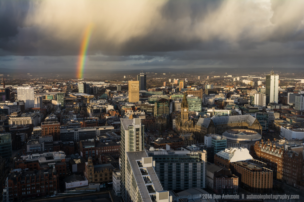A Rainbow Over Manchester, UK