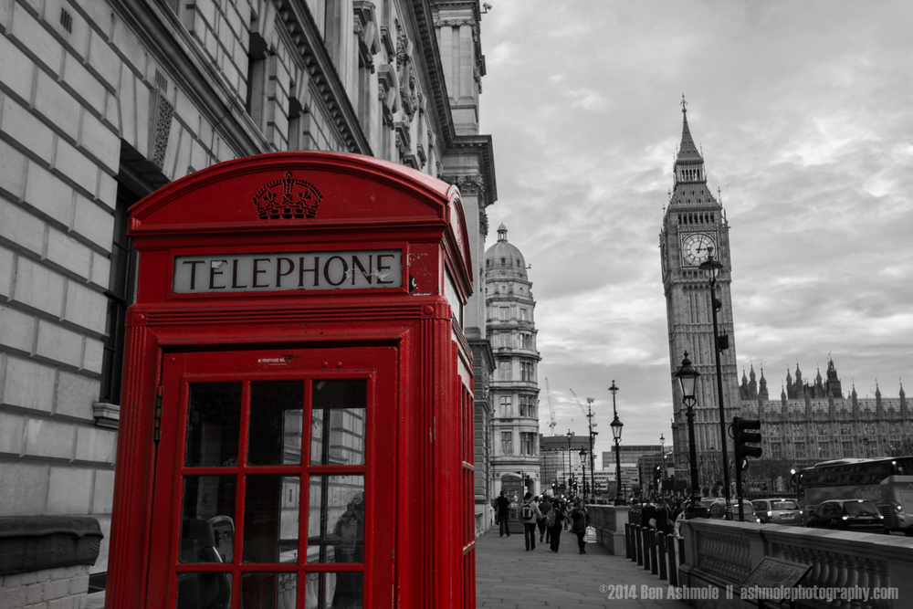 Red Telephone Box, London, UK