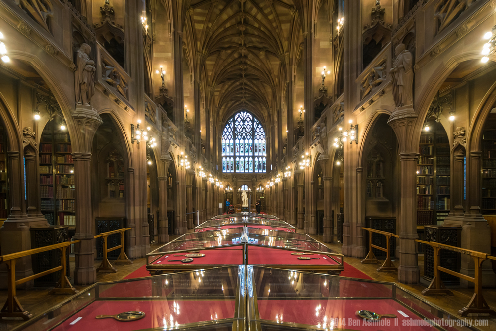 The Reading Room, John Rylands Library, Manchester, UK