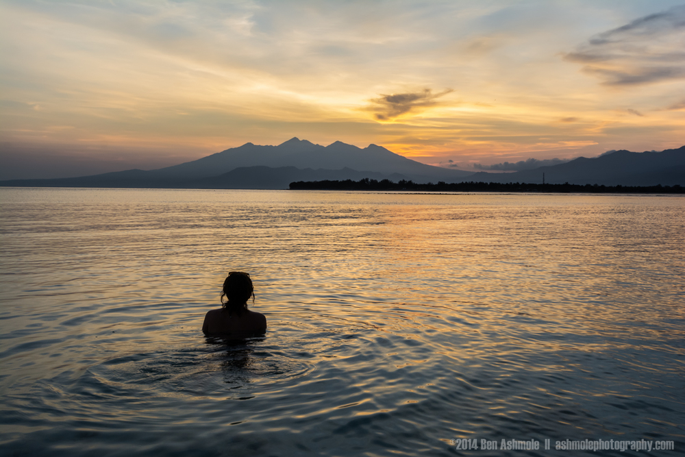 Watching Sunrise Over Mt Rinjani, Gili Trawangan, Indonesia