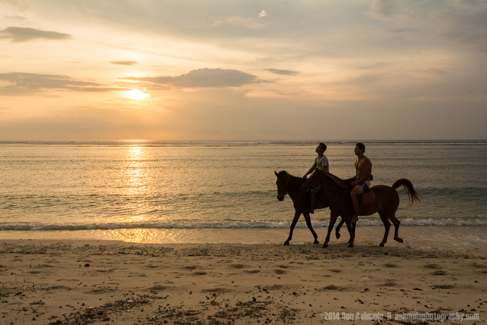 Horse Riding At Sunset, Gili Trawangan, Indonesia
