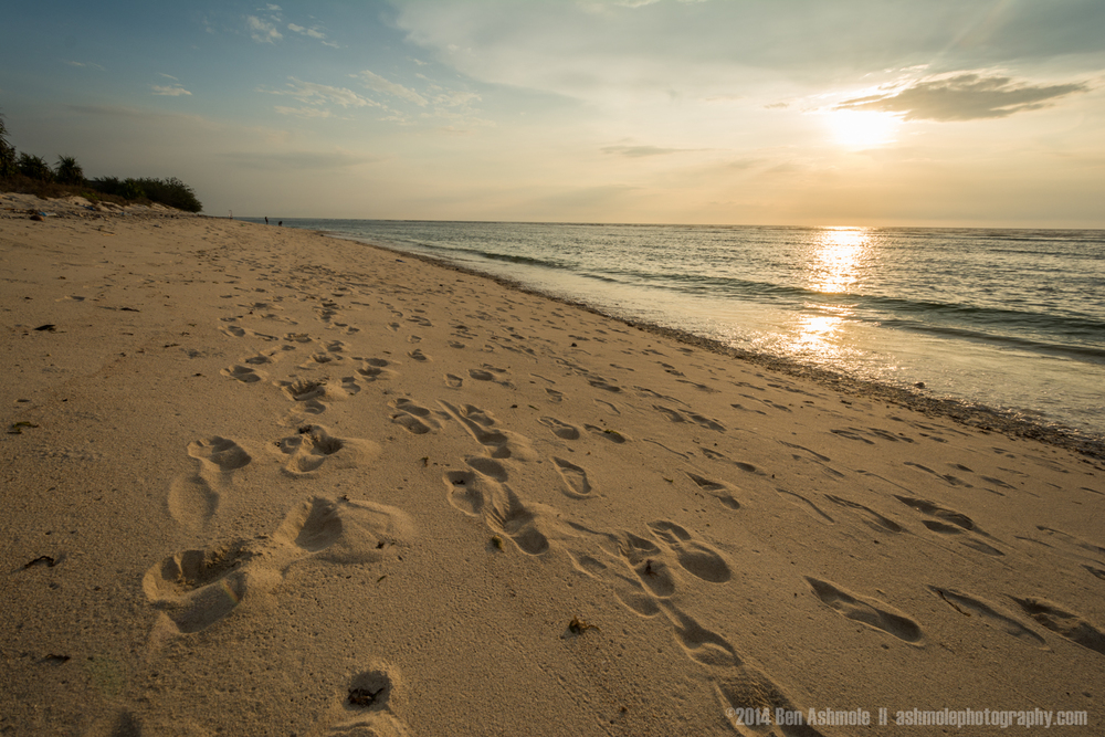 Footprints In The Sand, Gili Trawangan, Indonesia