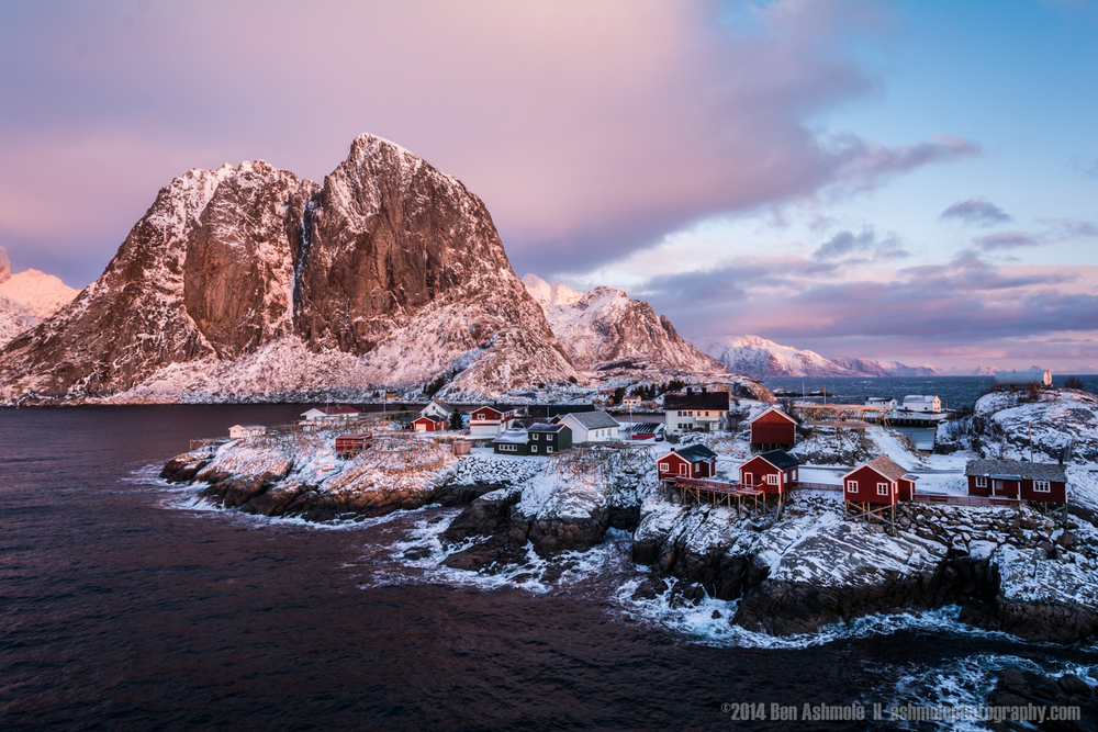 Pink Mountain, Reine, Lofoten Islands, Norway