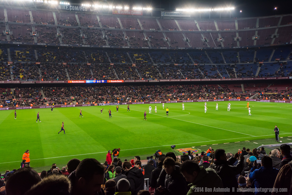 Barcelona FC Football Match, Camp Nou, Barcelona, Spain