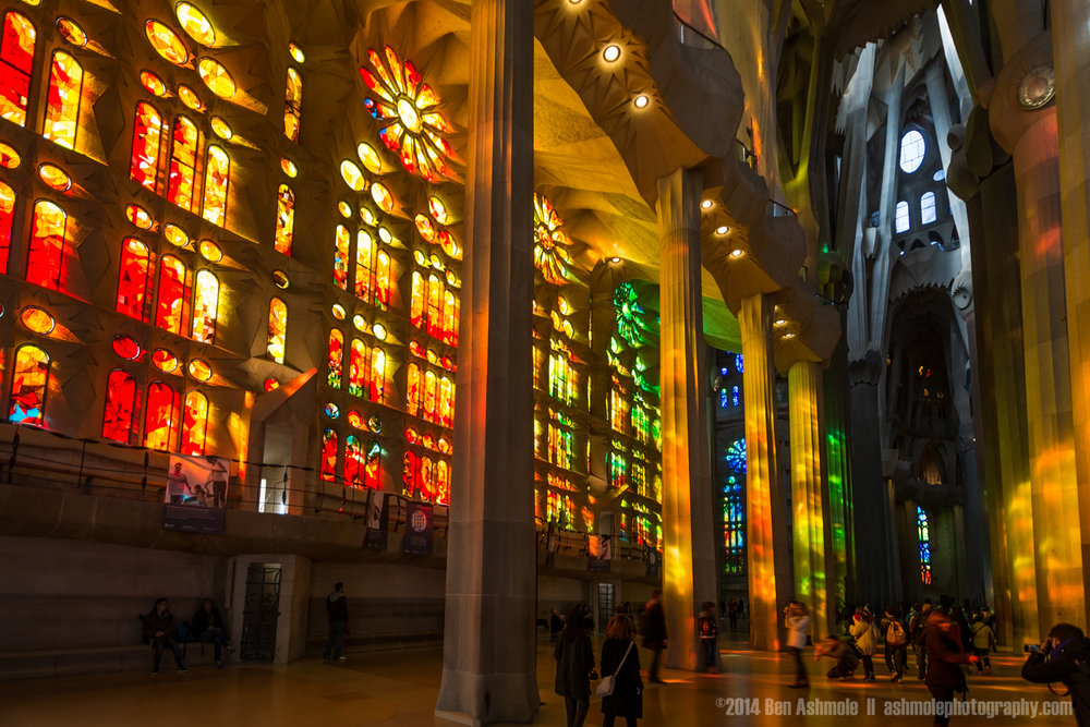 Stained Glass Windows Of The Sagrada Familia, Barcelona, Spain