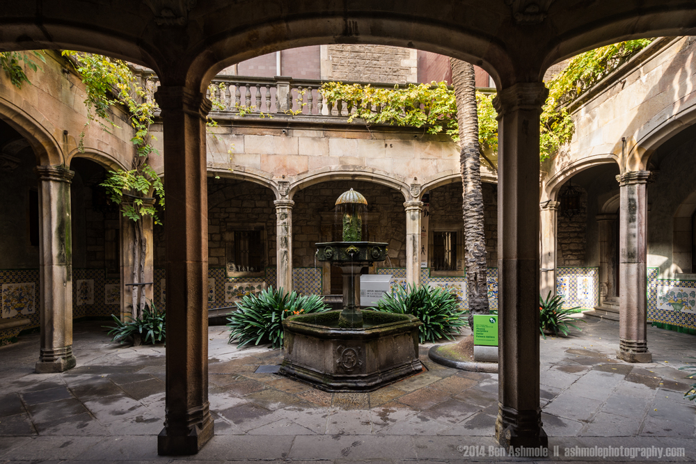 Catalan Courtyard, Barcelona, Spain
