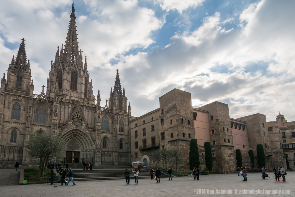Outside La Seu, Barcelona, Spain