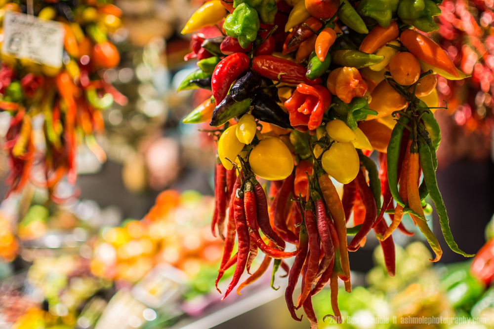 Hanging Chilli Peppers 2, La Boqueria, Barcelona, Spain